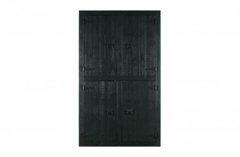 Vtwonen Bunk 4-dørs garderobe furu matt svart