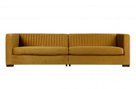 BePureHome Nouveau sofa xl fløyelsennep
