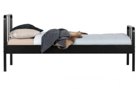 WOOOD Mees seng metall svart 90x200 cm