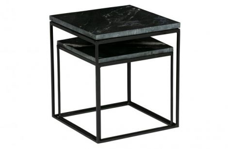 BePureHome Mellow Side Table Set 2 stk Marmor Svart