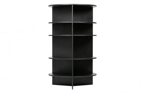 WOOOD Trian tower bokstativ rundt tre svart