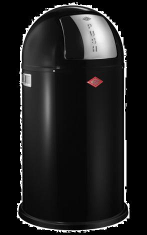 Wesco Pushboy Avfallsbøtte Sort - 50 liter