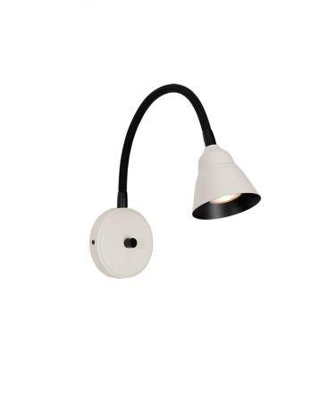 Herstal Relief Vegglampe Perlehvit/Matt Svart