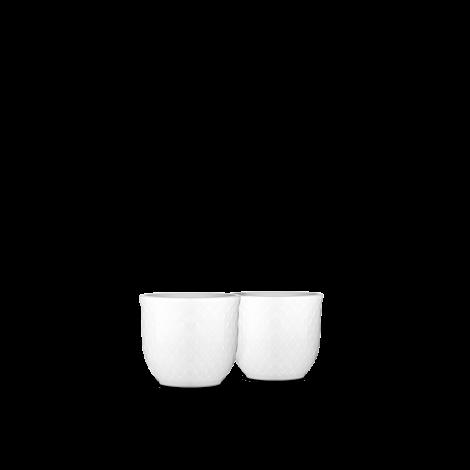 Lyngby Porselen Rhombe Eggeglass 2stk Hvit