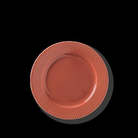Lyngby Rhombe Plate Terracotta Ø23cm