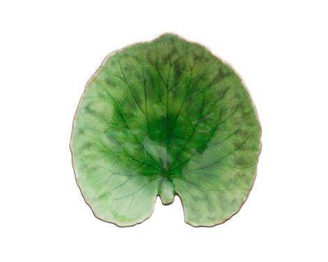 Costa Nova Riviera tallerken vannliljeblad grønn/sort - 18 cm