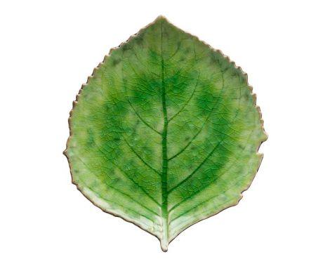 Costa Nova Riviera tallerken hortensiablad grønn/sort - 22 cm