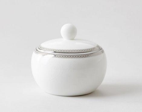 Royal Porcelain Silver Paisley Sugar Bowl 33 cl