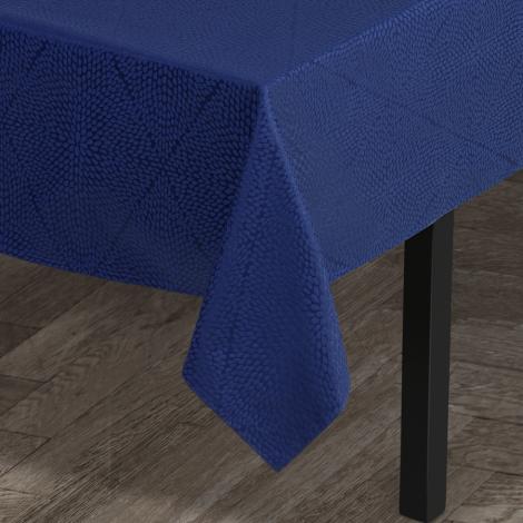 Juna Rhombus Damaskduk blå 140x220 cm