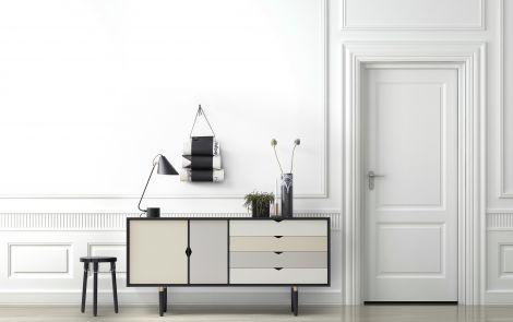 Andersen S6 Sideboard Sort Lakkert Eik / Multifarget