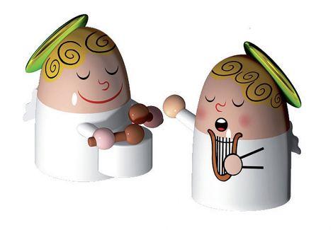 Alessi julepynt vinkler band trommer og harpe