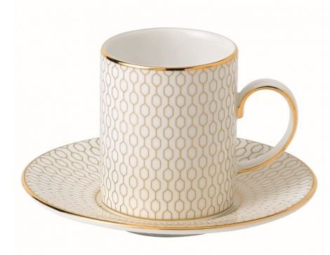 Wedgwood Arris Espresso Cup and Saucer