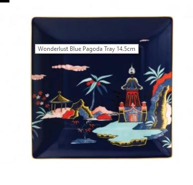 Wedgwood Wonderlust gavebrett Blue Pagoda BXD. Levering mai -21.