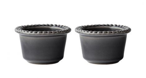 PotteryJo Daria Steintøy Bolle Grå 12cm 2-stk