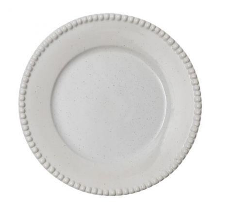 PotteryJo Daria Steintøy Middagstallerken Cotton White Shiny 28cm 2-stk