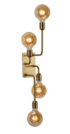 Belid Regal XL Vegglampe Messing med Bryter