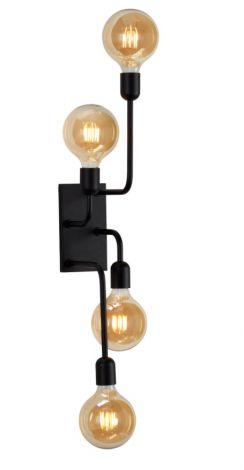 Belid Regal XL Vegglampe Sort med Bryter