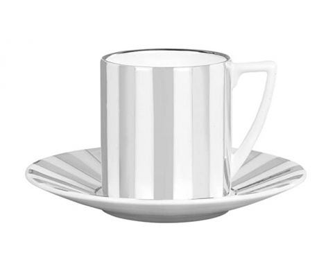 Wedgwood Jasper Conran Platinum Coffee Cup and Saucer