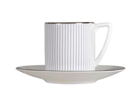 Wedgwood Jasper Conran Pin Stripe Espresso Cup & Saucer