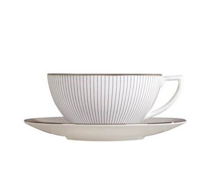 Wedgwood Jasper Conran Pin Stripe Tea Cup & Saucer