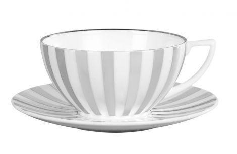 Wedgwood Jasper Conran Platinum Stripe Tea Cup and Saucer