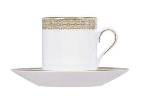 Wedgwood Vera Wang Lace Gold Espresso Cup and Saucer