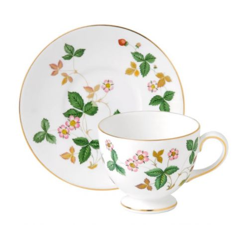 Wedgwood W Strawberry Teacup Leigh