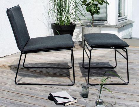 Ygg & Lyng Kyst Ottoman til Lounge stol Sort / Sort