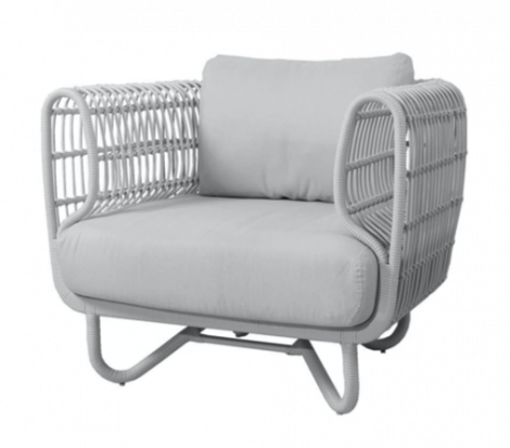 Cane-line Nest lounge stol Hvit