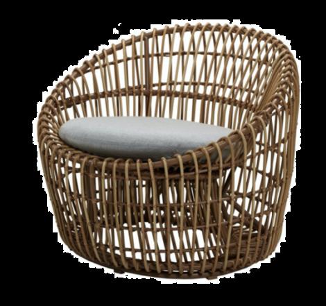 Cane-line Nest rund stol Natur
