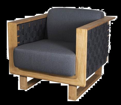 Cane-line Angle lounge stol m/teak ramme inkl. putesett