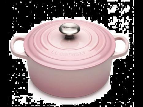 Le Creuset Støpejernsgryte Shell Pink 4.2L. Levering april -21.
