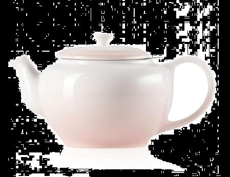 Le Creuset Tekanne Med Metallsil 1.3L Shell Pink