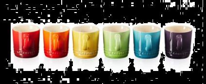 Le Creuset Gavesett Med 6 Stk Espressokrus 0.1L Rainbow. Levering oktober -21.