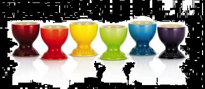 Le Creuset Gavesett Med 6 Stk Eggeglass 5.9 CM Rainbow