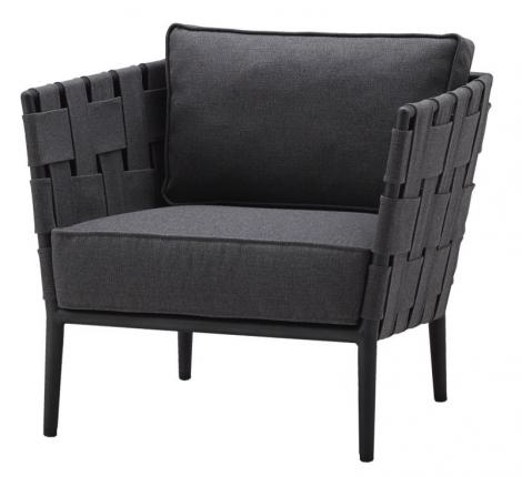 Cane-line Conic lounge stol grå. Levering medio mai.
