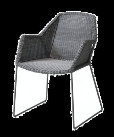 Cane-line Breeze stol m/meier lys grå Flervalg