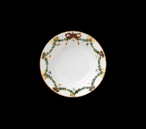 Royal Copenhagen Stjerne Riflet Christmas Plate Deep 17 cm