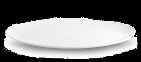Pillivuyt Boulogne Tallerken Oval Hvit - 34 cm