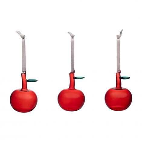 Iittala Glass epler Rød 3 stk