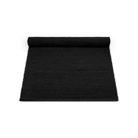 Rug Solid Bomullsteppe Sort Flere Størrelser