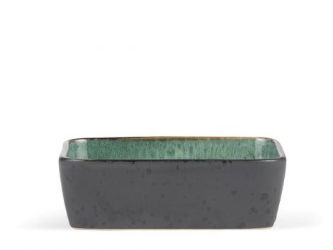 Bitz Fat rekt. 19x14cm svart/grønn