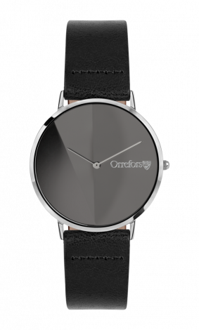 Orrefors O: TIME Black / Black Clock