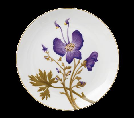 Royal Copenhagen Flora Tallerken Stemorsblomst 27 cm