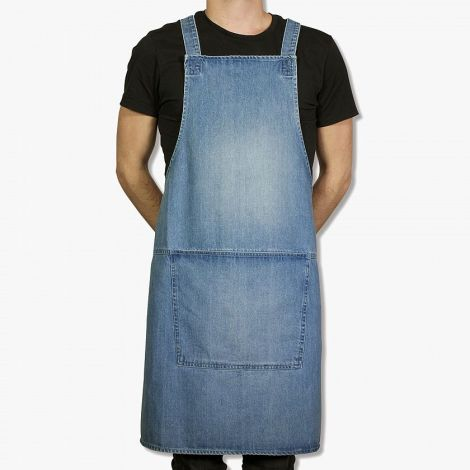 Dutchdeluxes Suspender Forkle Denim Blå