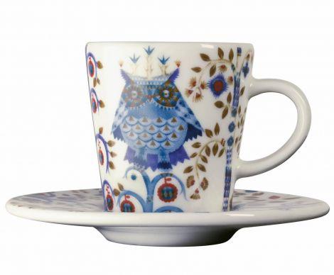 Iittala Taika espresso kopp og skål hvit