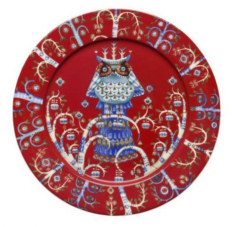 Iittala Taika  tallerken rød 27cm