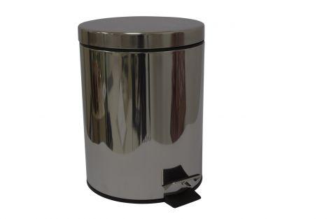 Turiform Urban Pedalbøtte Sølv 5 liter