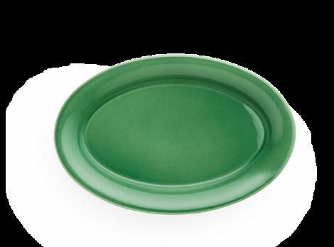 Kähler Ursula Oval Tallerken Grønn  28x18,5 cm