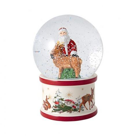 Villeroy & Boch Christmas Toy's Snøkule Julenisse m/ hjort